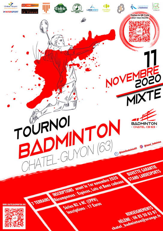 11 Novembre - ChatelBadminton - Tournoi mixte