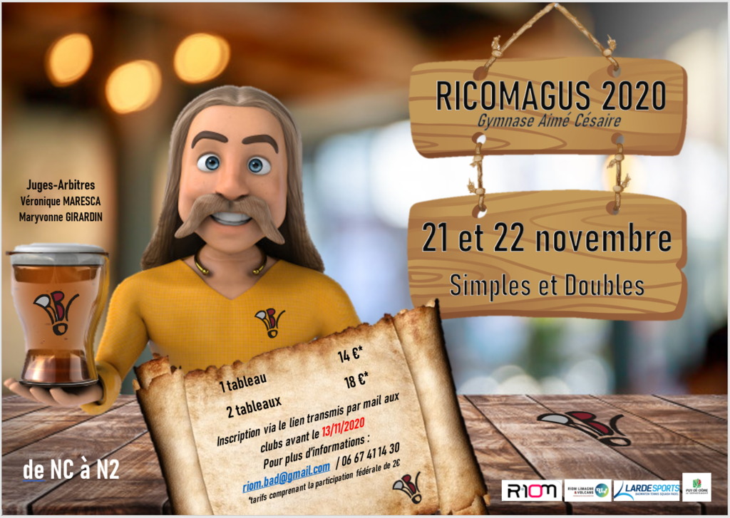21&22  Novembre - RIOM - RICOMAGUS Simple(D/H) & Double(D/H)