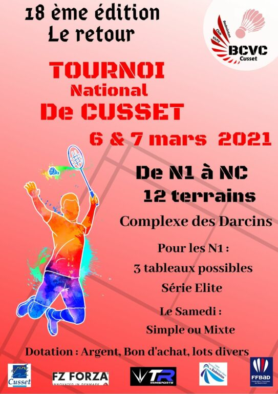 06-07 Mars 2021 - Vichy-Cusset - Tournoi National